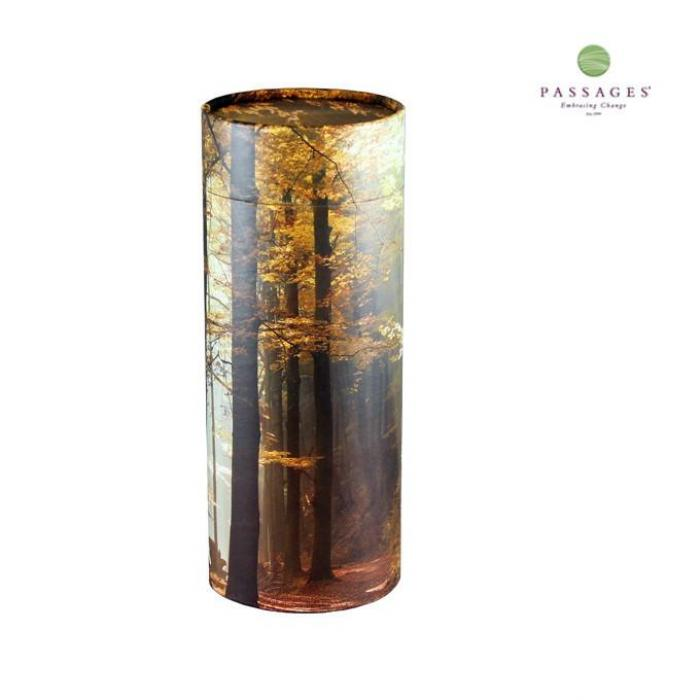 Scattering Tube Keepsake- Fall Forest Keepsake Urns