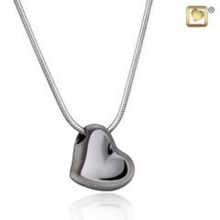 Pendant - Leaning Heart Midnight Jewelry