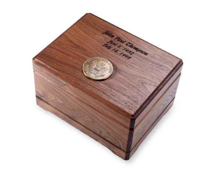 Walnut Memento Chest Wooden Urns