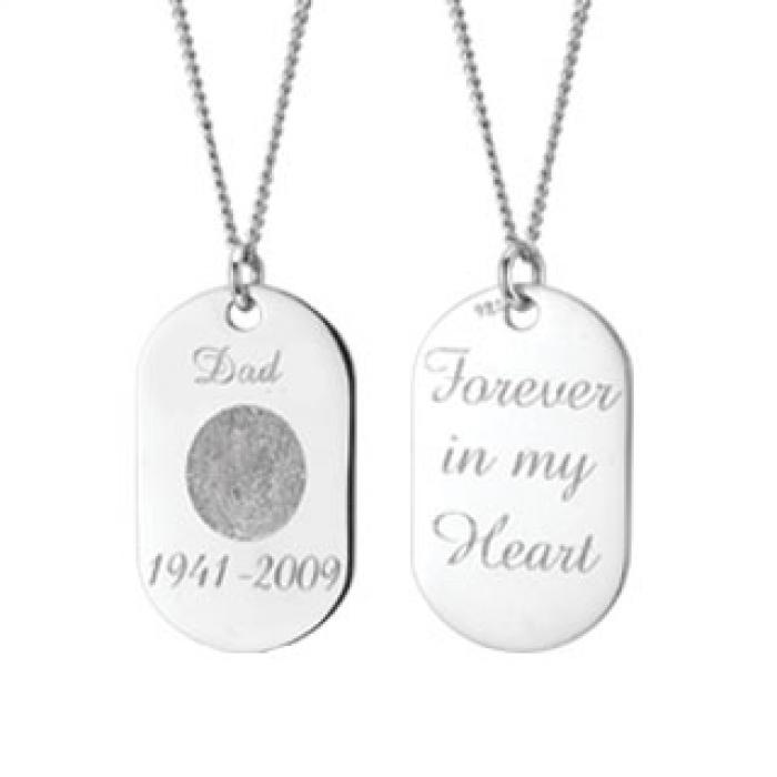 Memory Tag - Silver Jewelry