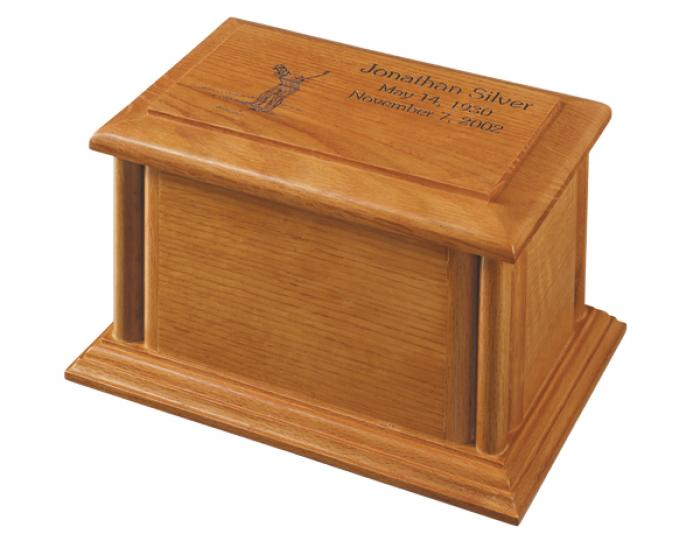 Monroe Oak Wooden Urns