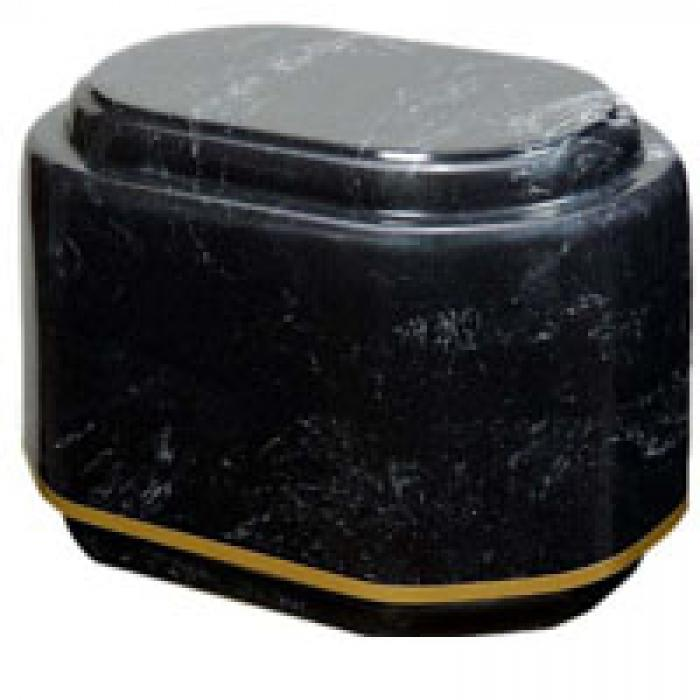Companion Double Black  - 2 chambers Marble Urns