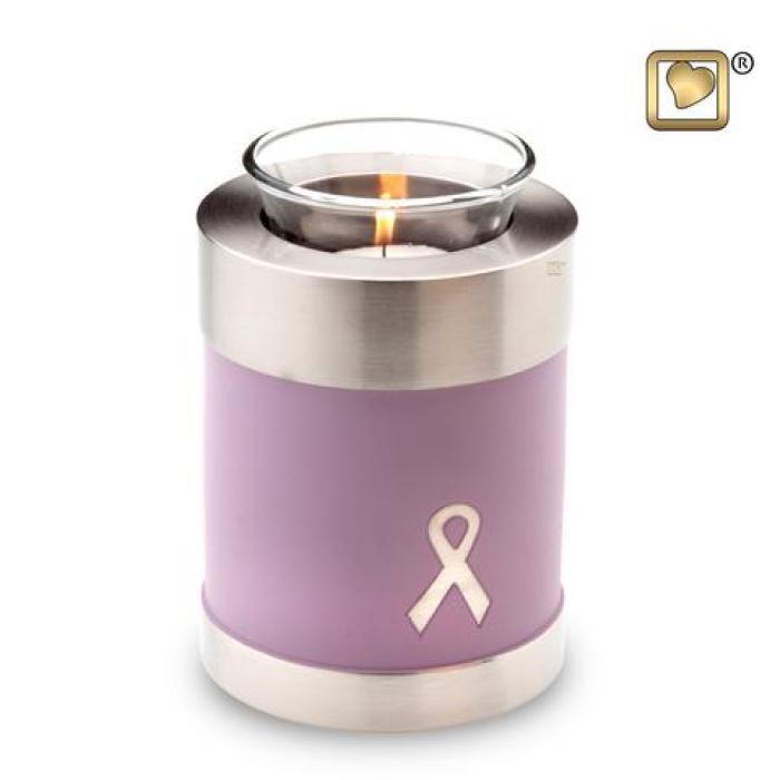 Awareness Pink Tea Light Keepsake Urns