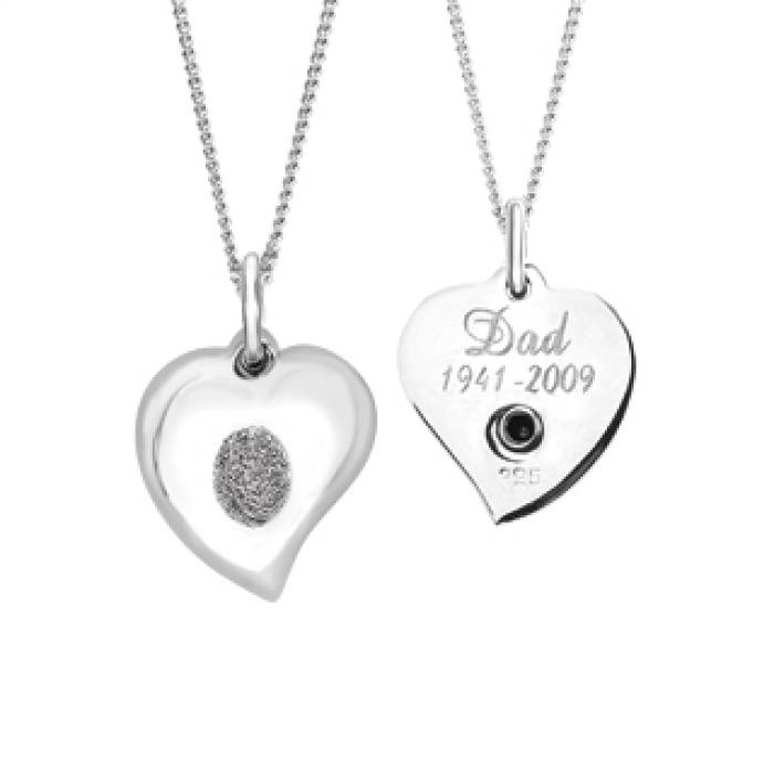 Signature Heart Keepsake (Urn) - Silver Jewelry