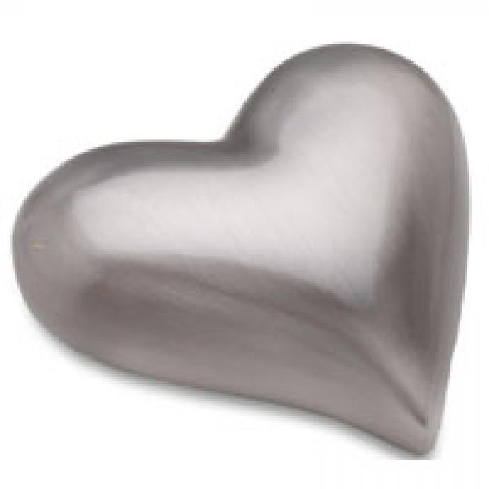 Brushed Heart - Pewter Keepsake Urns