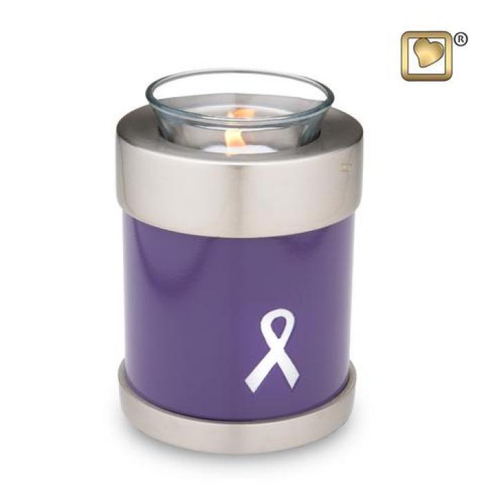 Awareness Purple Tea Light Keepsake Urns