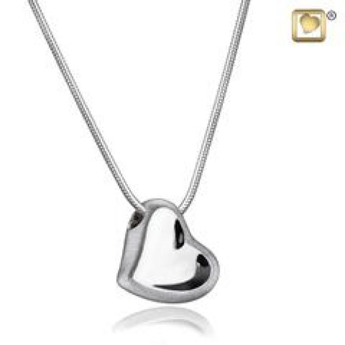 Pendant - Leaning Heart Silver Jewelry