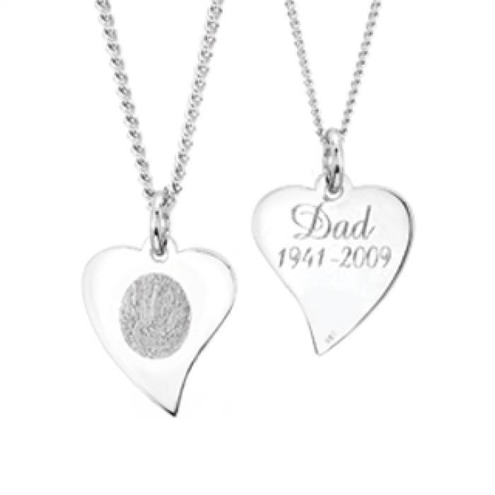 Flat Heart Pendant - Silver Jewelry