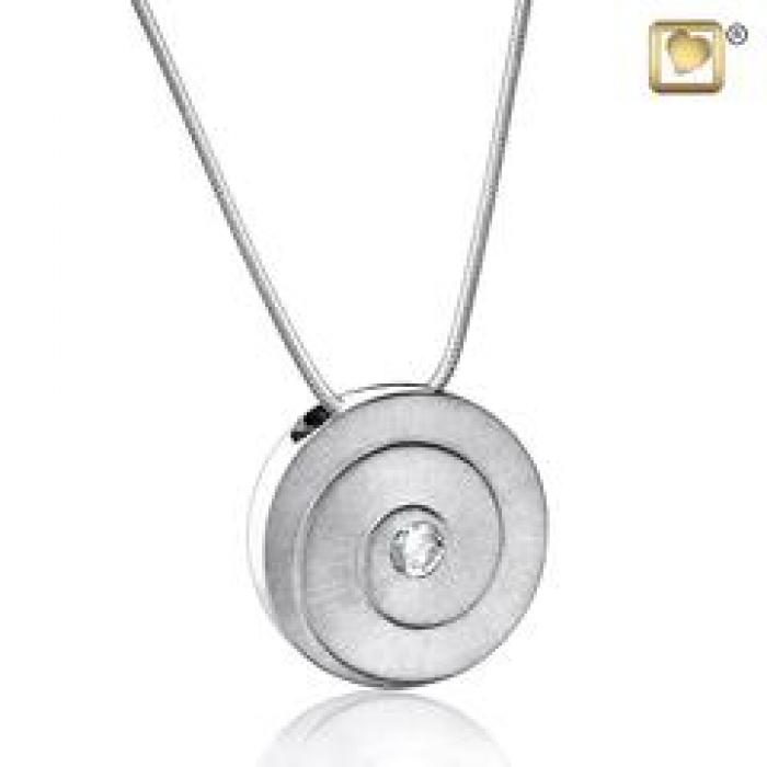 Pendant - Eternity Silver (Brushed w/Crystal) Jewelry