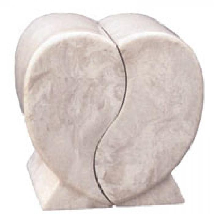 Companion Heart Ivory Marble Urns