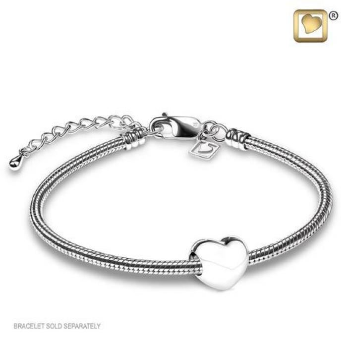 Bead - LoveHeart Silver (Polished) Jewelry