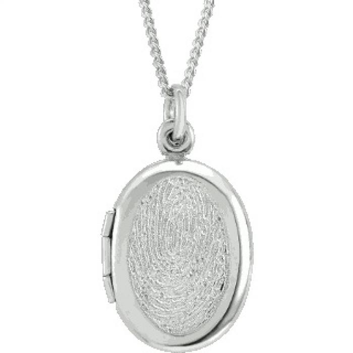 Oval Locket - Silver Jewelry
