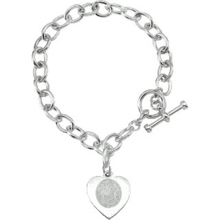 Flat Heart Charm Bracelet Jewelry