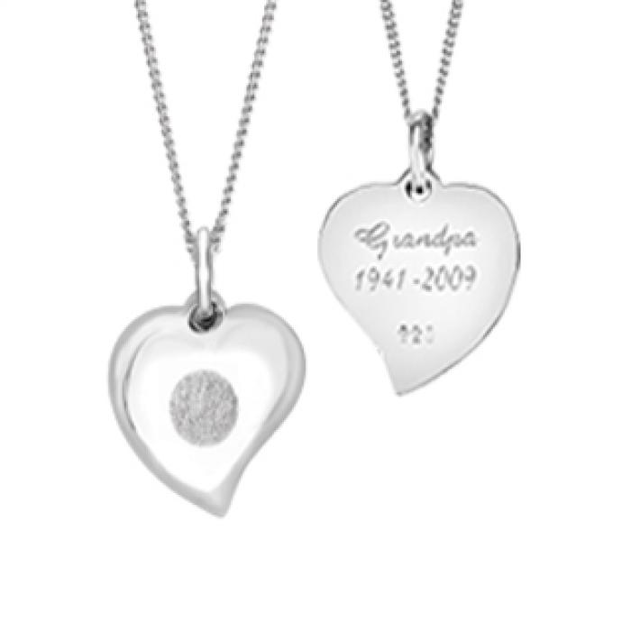 Signature Heart Pendant (Flat Back) - Silver Jewelry