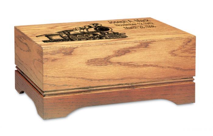 Shaded Oak Urn Wooden Urns