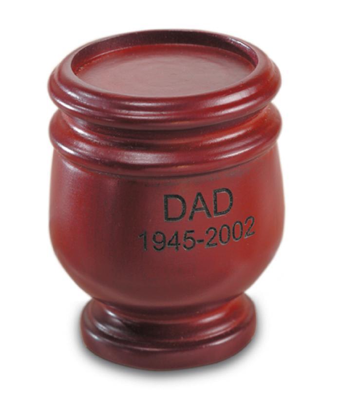 Jefferson Mahogany Miniature Keepsake Wooden Urns
