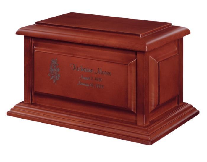 Franklin Cherry Wooden Urns