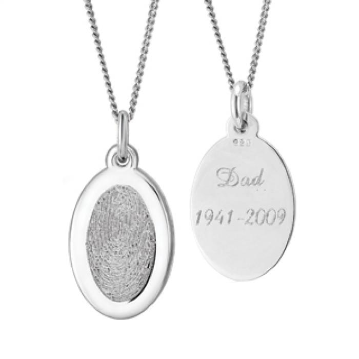 Oval Pendant - Silver Jewelry