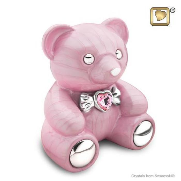 Cuddle Bear Pink Metal Urns