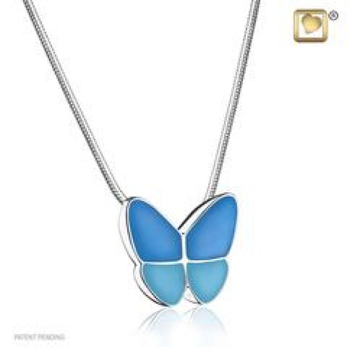Pendant - Butterfly Wings of Hope Blue Jewelry