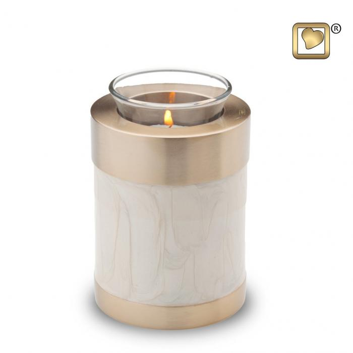 Simplicity Pearl Tea Light Keepsake Urns