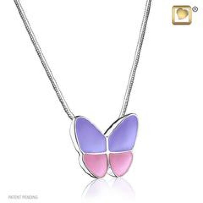 Pendant - Butterfly Wings of Hope Lavender Jewelry